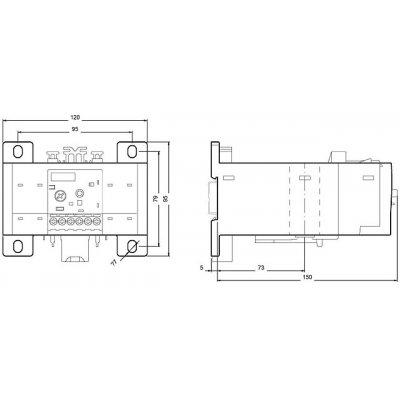 3RB2056-1FW2 - Rozměrový výkres