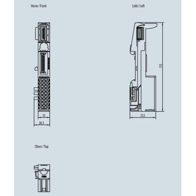 6ES7193-6BP00-0DA0 - Rozměrový výkres