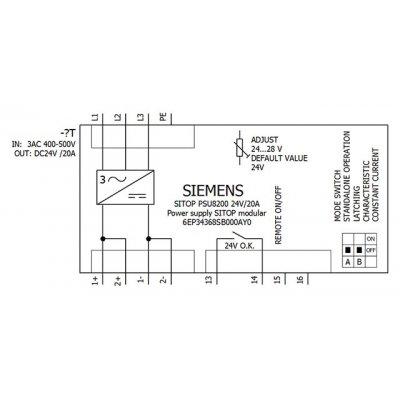 6EP3436-8SB00-0AY0 - Blokové schéma