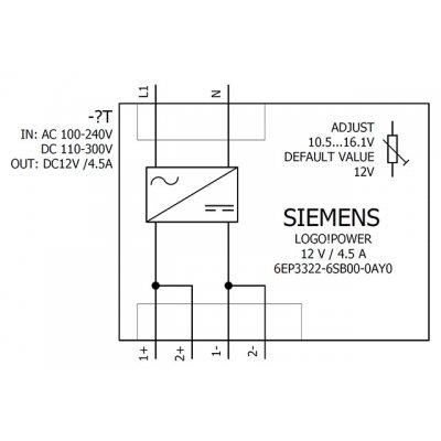 6EP3322-6SB00-0AY0 - Blokové schéma